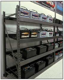 Gravity Feed Battery Rack